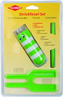 Kleiber Strickliesel und  Pompom-Set grün