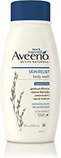 Aveeno Skin Relief Fragrance-Free Body Wash with Oat to Soothe Dry Itchy Skin, Gentle, Soap-Free & Dye-Free for Sensitive ...