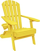ECCB Outdoor Outer Banks Value Line Poly Lumber Adirondack Chair (Yellow)