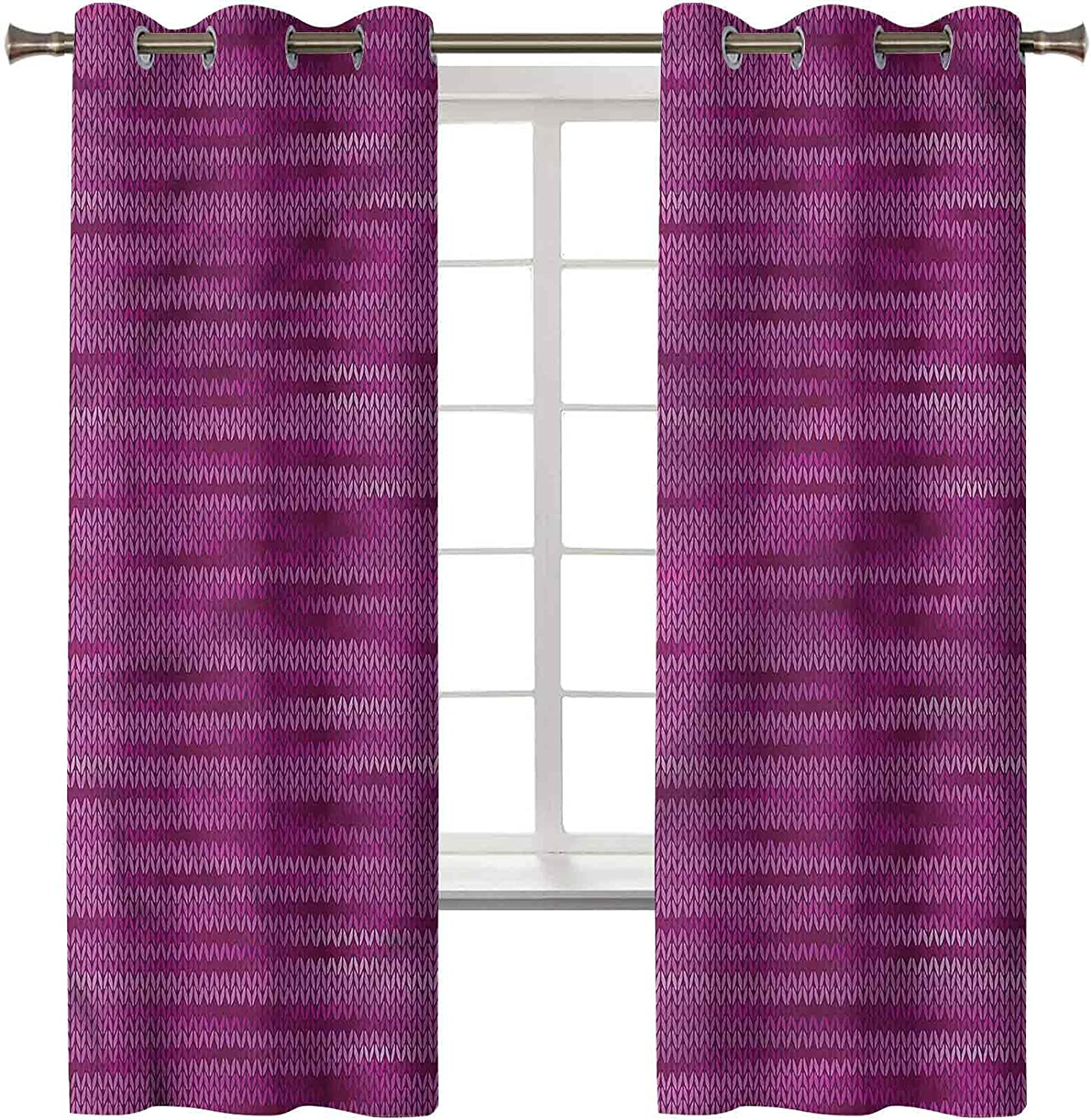 Magenta Curtains Drapes Set of 2 Panels 84 Inch Luxury C 42 x Houston Mall Same day shipping