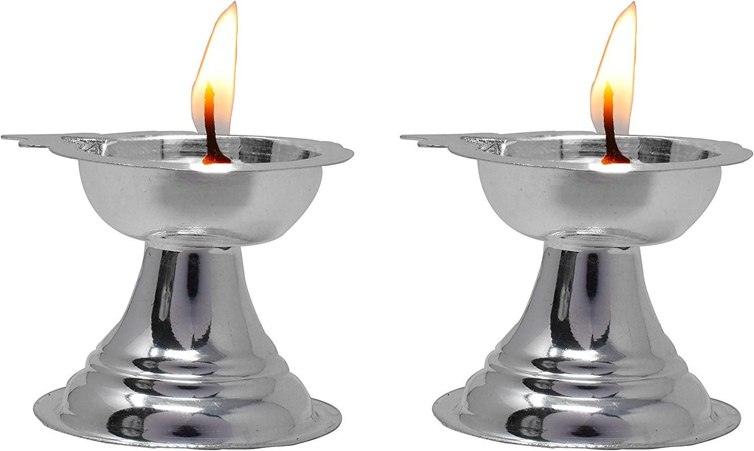 PRD Al sold out. CARATCAFE Pure Sterling Silver Pair Puja Deepam Store of for Diya
