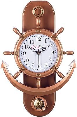 eCraftindia Decorative Retro Anchor Copper Pendulum Wall Clock