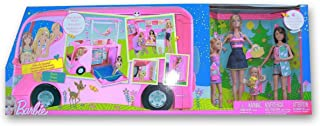 'Sisters Go Camping' Barbie Camper and 4 Dolls by Mattel