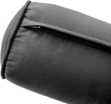  Cover ONLY  Outdoor Piped Trim Small 23x6 Bolster Pillow Slipcover AD003