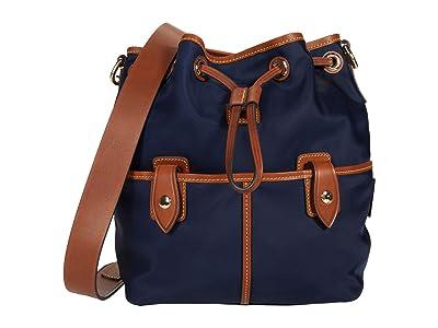 Dooney & Bourke Wayfarer Drawstring (Navy) Drawstring Handbags