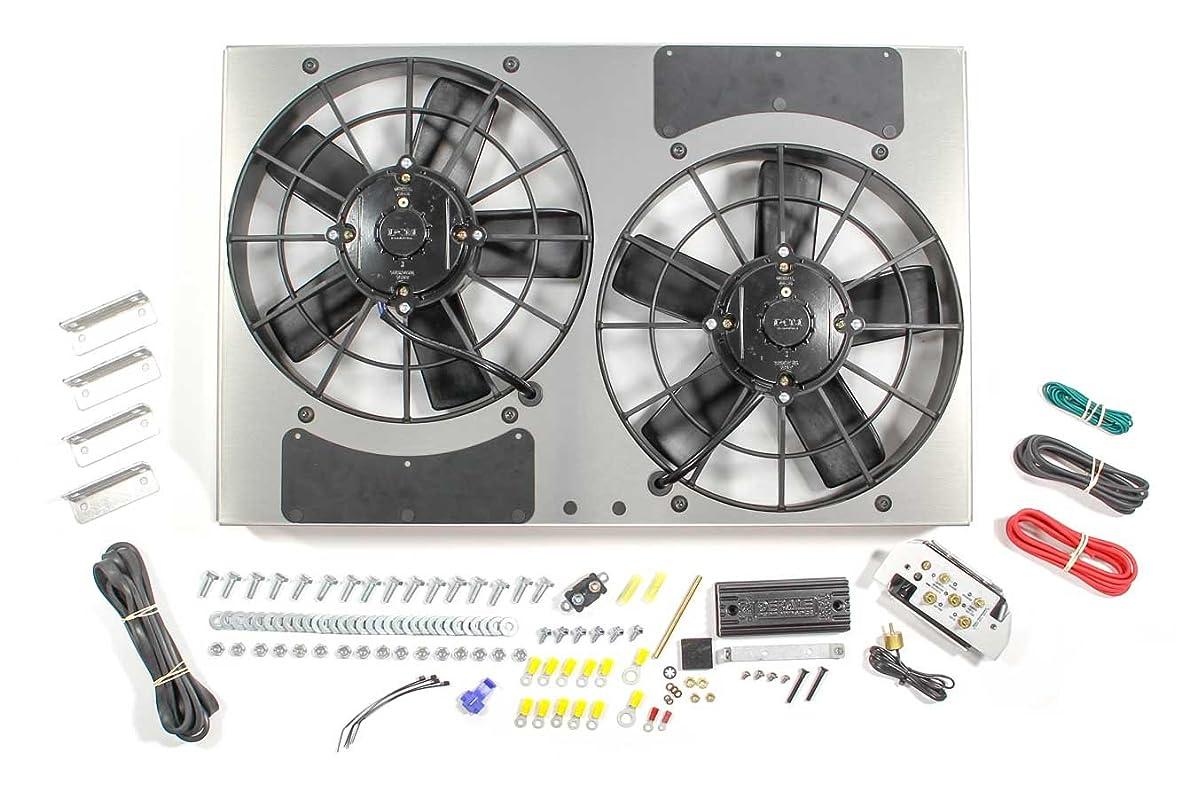 Derale DER66831 Pwm Dual Rad Fan/Aluminum Shroud Assembly