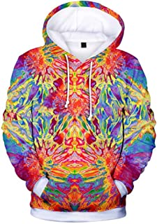 3D Hoodies Mens/Womens Colorful Psychedelic Tie Dye Color Sweatshirts