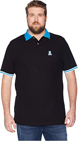 Big and Tall Striped Collar Polo