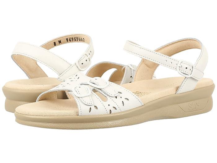 Vintage Sandals | Wedges, Espadrilles – 30s, 40s, 50s, 60s, 70s SAS Duo White Womens Shoes $128.95 AT vintagedancer.com