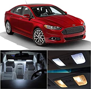 SCITOO 9Pcs White Interior LED Light Package Kit Replacement Bulbs Fits for Ford FUSION 2006-2009