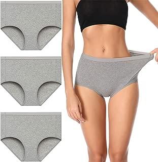 Comfort Women's High Waist Cotton Underwear Soft Brief Panties Regular and Plus Size