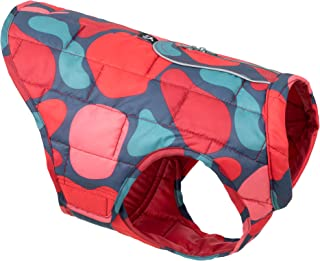 Kurgo Loft Dog Jacket, Reversible Winter Coat for Dogs, Reflective, Wear with Harness, Water Resistant, for Small Medium L...