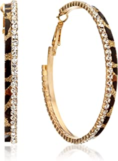 Taille Gemini Bijoux Femmes recouvertes en Or Blanc 18K Boucles longues Larmees Dangle Gm009 4 pouces