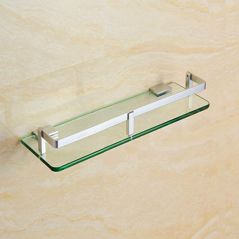 Bathroom Corner Stand Max 43% OFF Glass Wall-Mounted Shelf Time sale Ha