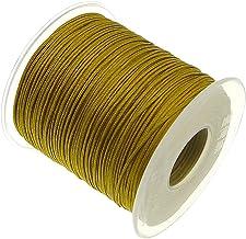 My-Bead algod/ón cuerda encerada trenzado di/ámetro /Ø 1 mm rollo con 90 m verde calidad superior DIY