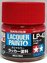 Tamiya 82142 LP42 Lacquer Paints Mica Red Color Bottle - 10 ml / 0.34 Fl.Oz
