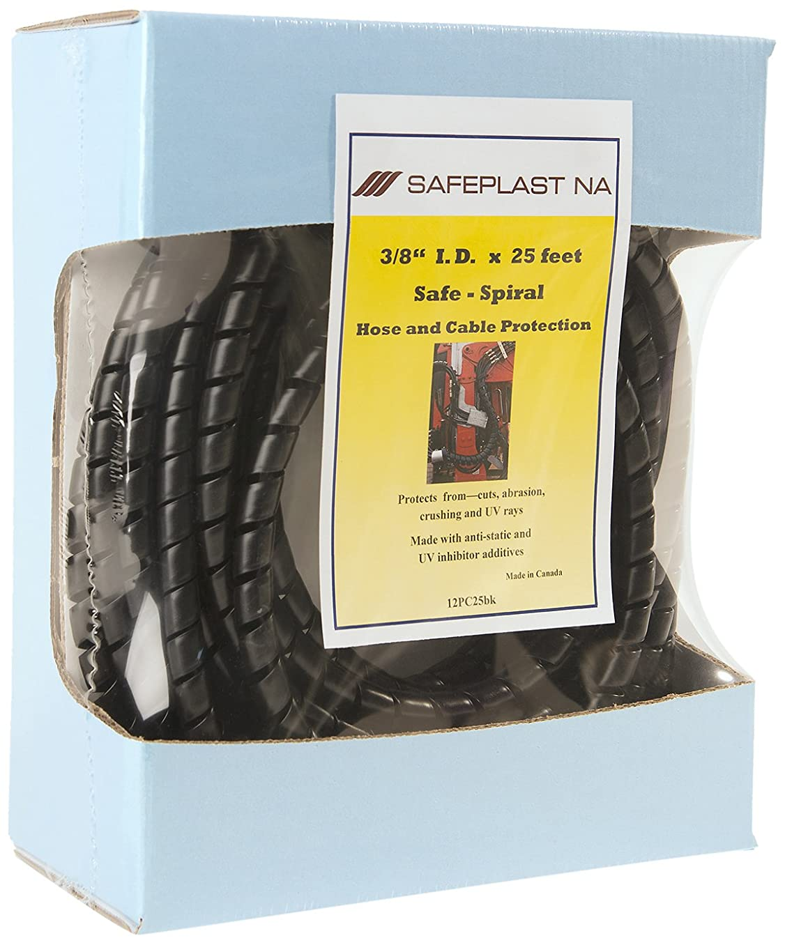 Pre-Cut Spiral Wrap Hose Protector, 3/8