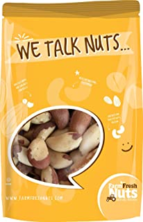 Whole, Shelled Brazil Nuts Roasted with Coconut Oil, Salted With Pink Himalayan Salt| Healthy Southern Tastiness| Small Ba...