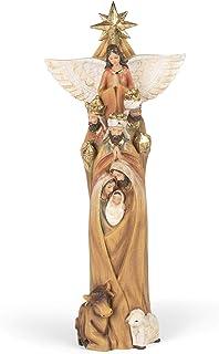 Roman 133004 Nativity Totem Pole Figurine, 13.25 inch, Multicolor