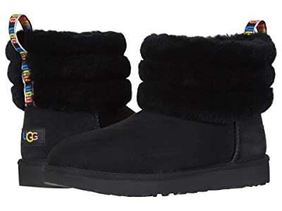UGG Fluff Mini Quilted (Black Rainbow) Women