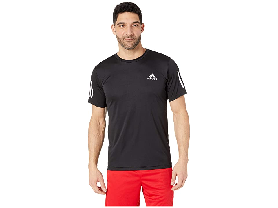 adidas Club 3-Stripes Tee (Black/White) Men's T Shirt
