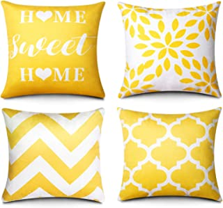 SLLPL Modern Geometric Throw Pillow Covers, Set of 4 Cozy Soft Velvet Decorative Cushion Case, 18 x 18 in Pillowcase for S...
