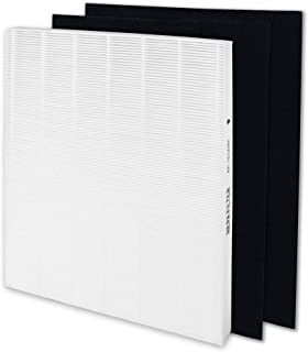 ATXKXE Premium HEPA Filter Replacement for Coway Mighty Air Purifier AP-1512HH 3304899 with 2 Carbon Pre Filters
