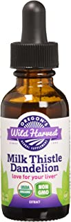 Oregon's Wild Harvest Milk Thistle Dandelion Organic Extract, 1 Fluid Ounce