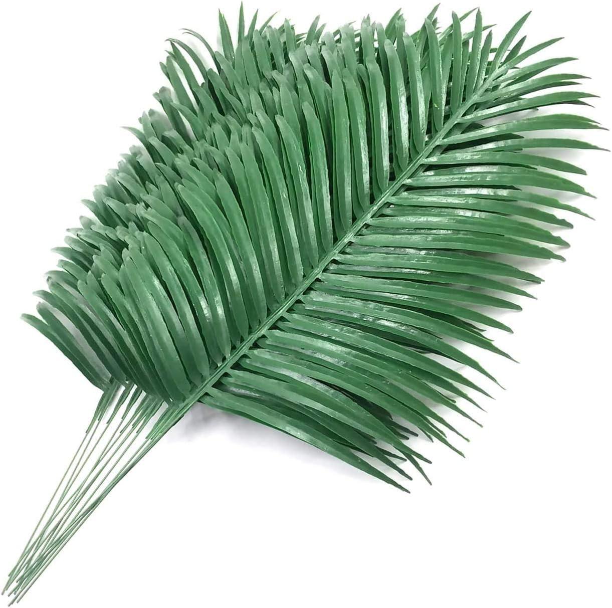 12 Pack Artificial New life Bargain sale Palm Plants Faux Fake Leaves Tropical La