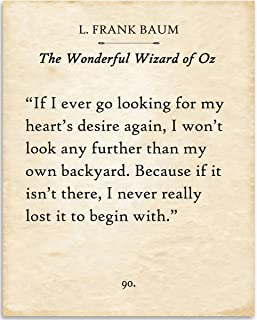 L. Frank Baum - If I Ever Go Looking - Wizard of Oz - 11x14 Unframed Typography Book Page Print - Great Inspirational Gift and Decor for Home and Office Under $15
