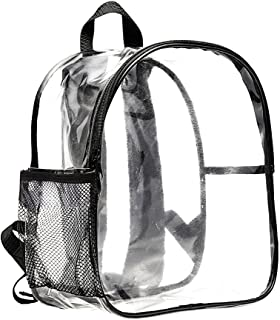 Stadium Approved Clear Mini Backpack Heavy Duty Transparent Backpack for Concert, Security Travel &Stadium
