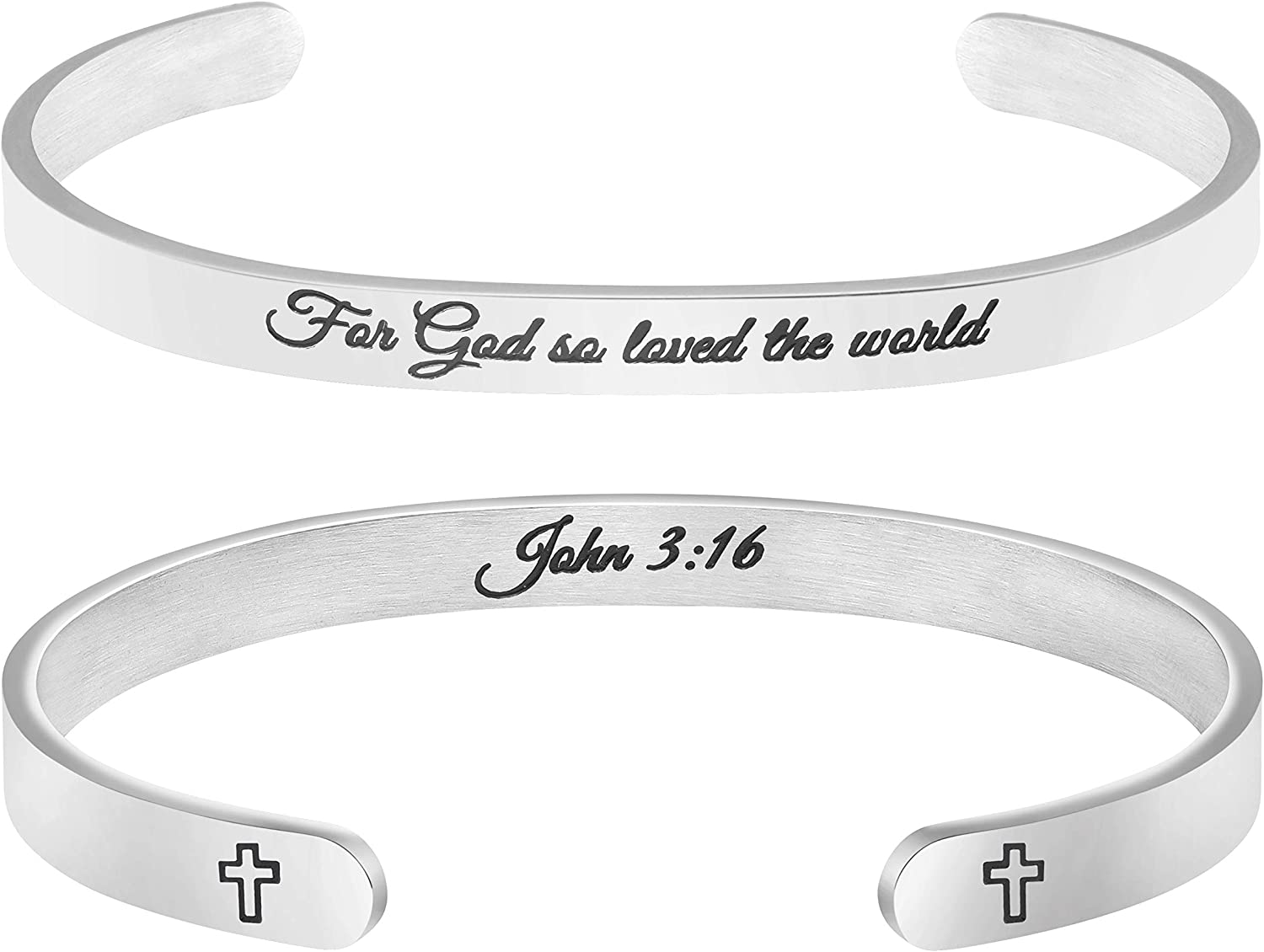 Christian Bracelets for Women Inspirational Gifts Bible Verse Religious Faith Jewelry Cuff Bracelet Mothers Day Christmas Birthday Jewelry for Her Mother Daughter