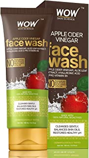 WOW Skin Science Apple Cider Cider Vinegar Face Wash - No Parabens, Sulphate, Silicones & Color - 100mL Tube