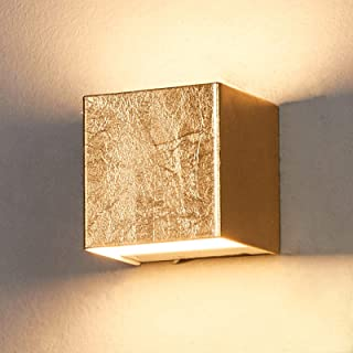 LED Lámpara de pared 'Quentin' (Moderno) en Dorado hecho de Metal e.o. para Pasillos (1 llama, A+) de Lindby | aplique LED, aplique