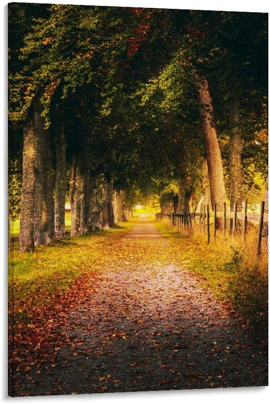 supreme FBGFVCGHD Autumn free shipping Country Road Art and Canvas W Poster