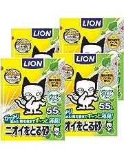 【Amazon.co.jp限定】 ニオイをとる砂 猫砂 リラックスグリーンの香り 5.5L×4袋 (ケース販売)