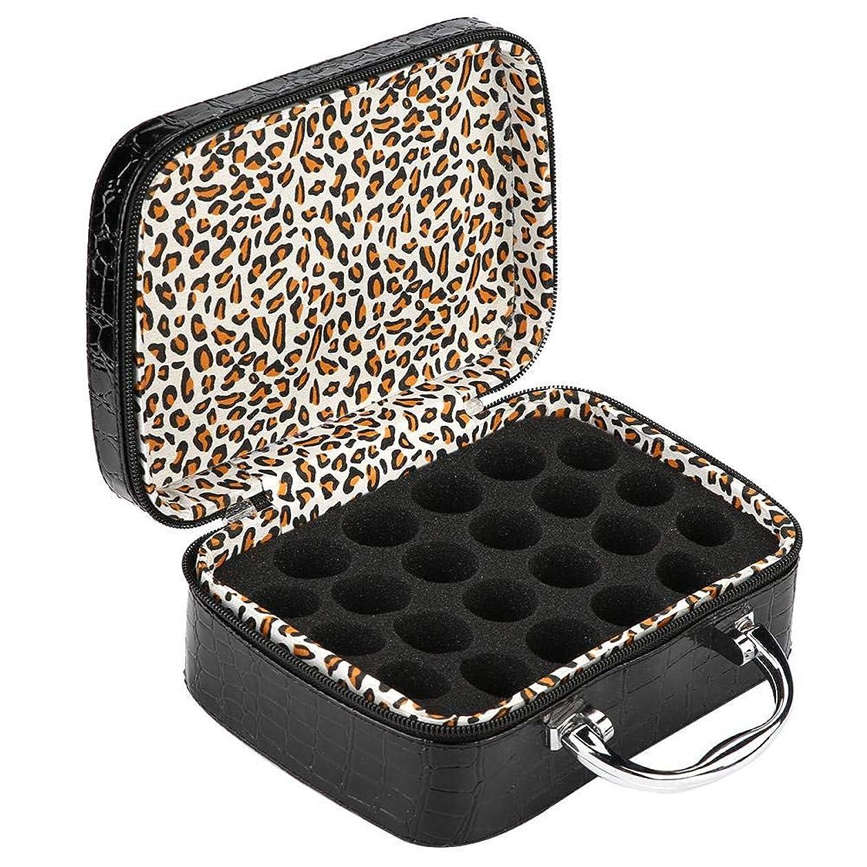 ライバル調和重量Salinr アロマポーチ エッセンシャルオイル ケース 携帯用 エッセンシャルオイル収納ボックス アロマケース ボックス 香水収納ケース 15ml アロマオイル収納ボックス 22本用