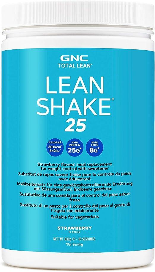 GNC Total Lean® Lean Shake ™ 25 - Vainilla, 16 porciones, batido de reemplazo de comidas