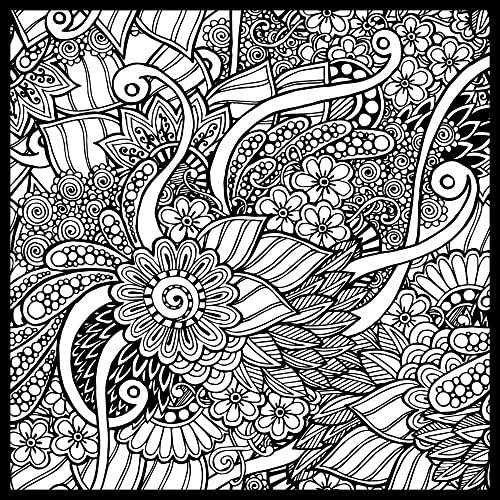 Garden Doodle ColorMe Wall Mural by Magic Murals Adult Coloring Wallpaper Better Than Coloring product image
