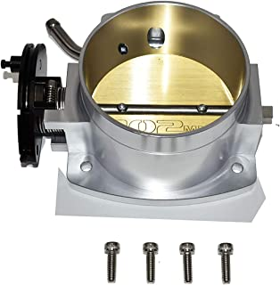 A-Team Performance 4-Bolt Throttle Body Drive By Cable Compatible with Chevy Chevrolet GM LS LS1 LS3 LS6 LSX Silver 102mm