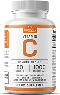 Vitamin C 1000 mg - Support Immune System, Antioxidant Support, Collagen Formation for Healthy Skin. Vegetarian Friendly, ...
