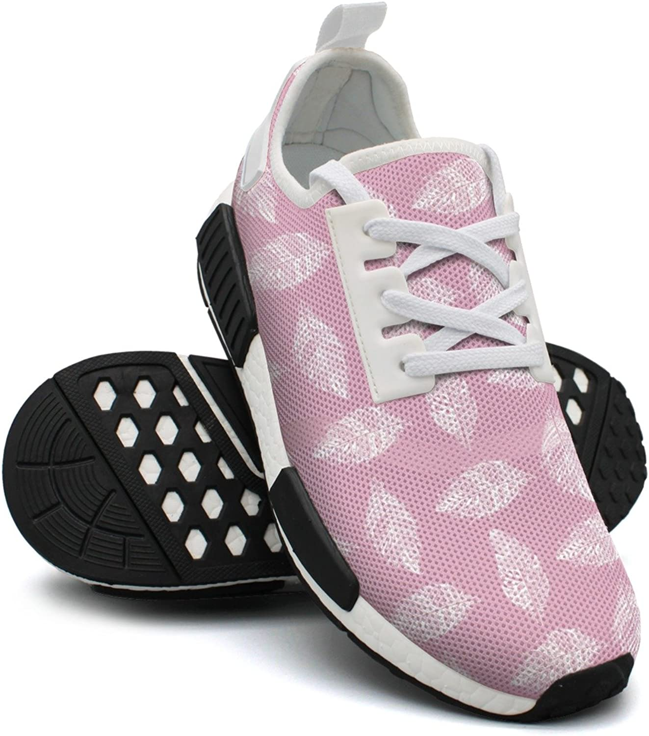 Hand Drawn Feather On Pink Women's Casual Lightweight Sneaker Gym Outdoor Running shoes