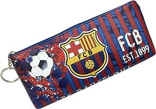 HZIJUE Barcelona Soccer Team Pencil Case Marker Portable Storage Accessory Case