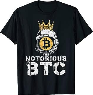 Bitcoin Shirt Gifts Notorious BTC T-Shirt Crown Men Women