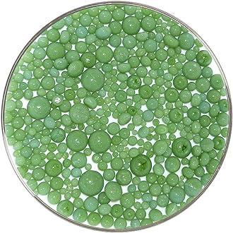 Made from Bullseye Glass Avocado Green Opalescent Frit Balls 1oz 90COE