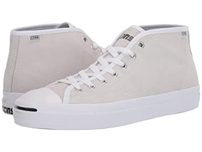 Converse Skate Jack Purcell Pro Suede Mid (White/White/White) Men