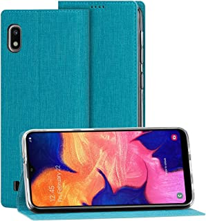 Feitenn Galaxy A10 Case, Galaxy A10 Flip Case, Folio Cover Slim Thin Kickstand Card Slots Cash Holders Durable Bumper Magnetic Closure PU Leather TPU Gel Shockproof for Samsung Galaxy A10 2019 - Blue