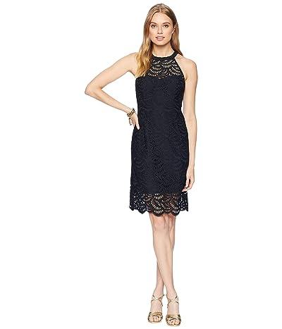 Lilly Pulitzer Kenna Halter Dress (Onyx Scalloped Fan Lace) Women