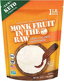 Sponsored Ad - Monk Fruit in the Raw Keto-Certified Zero Calorie Sweetener with Erythritol, 0 Net Carbs, 16 Ounce. Bag (1 ...