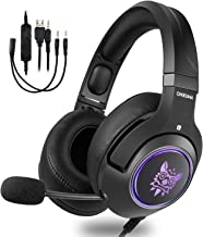 Gaming Headset,Wired Over Ear Gaming Headphone with Mic, Noise Cancelling & Volume Control,USB LED Laptop Game Headphones for New Xbox One/PC/Mac/PS4/Table/Phone
